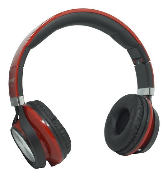Fone Ouvido Headfone Fio P2 Microfone Bass Celular Vermelho