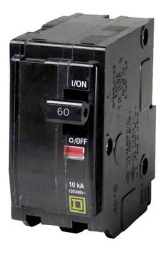 Imagen 1 de 6 de Pastilla Interruptor Termomagnético Qo260 2polo60a Schneider