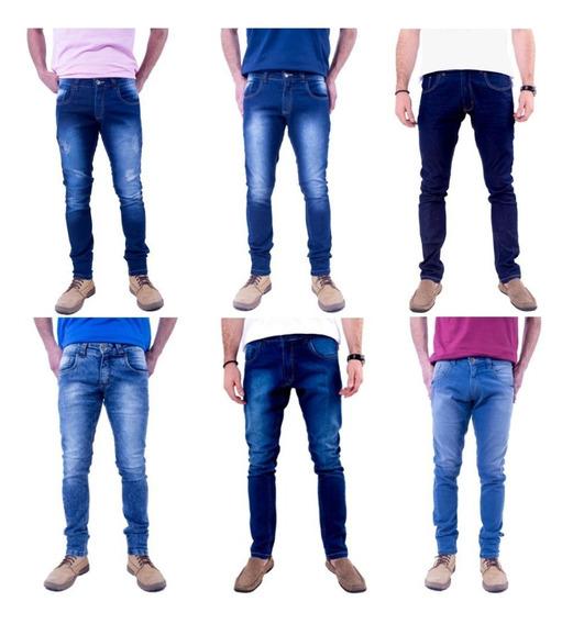 Kit 6 Calças Jeans Masculino Slim Atacado Promoção