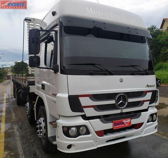 Caminhão Mb Atego 2430 Automático Bitruck, Ano 2014,fino!!!