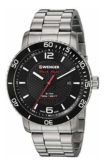 Wenger Roadster - Reloj Casual Para Hombre, Color Negro, Cua