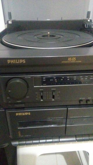 Aparelho De Som Philips As 125 - Toca Disco, Rádio Am/fm