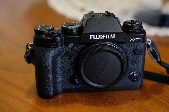 Câmera Fuji Xt-1 Preta + Half-case Original Fuji