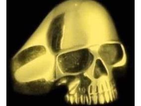 Anel Caveira De Ouro 750 K