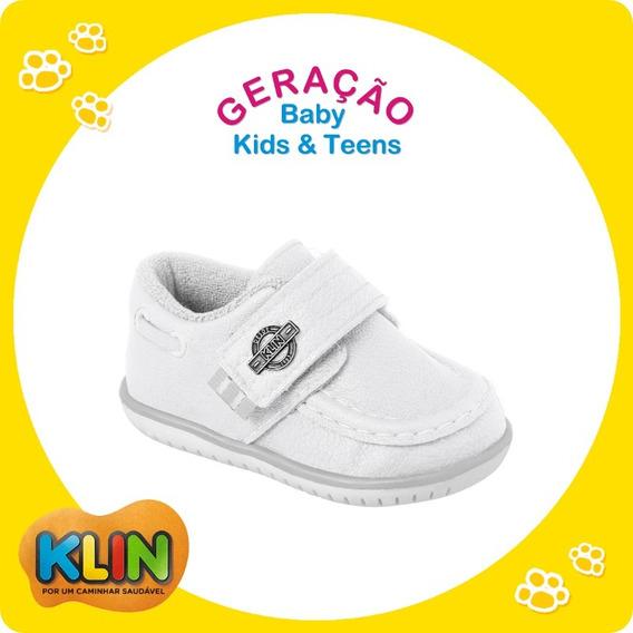 Sapato Bebê Klin Casual Marinho Ou Branco 16 Ao 21- 20875 /20876