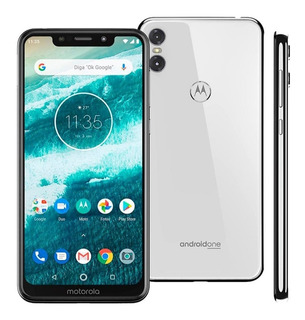 Celular Motorola One Dual Chip Branco 64gb