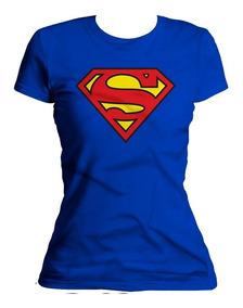 Xperma Playera Dama Escudo Superman