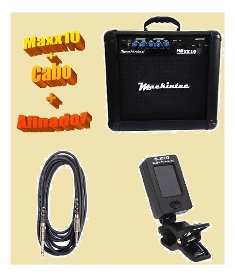Cubo Amp. Guitarra Maxx 10 Mackintec+cabo 3mt+afinador Joyo