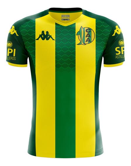 Camiseta Aldosivi Kombat Titular 2019 Amarillo Hombre Kappa
