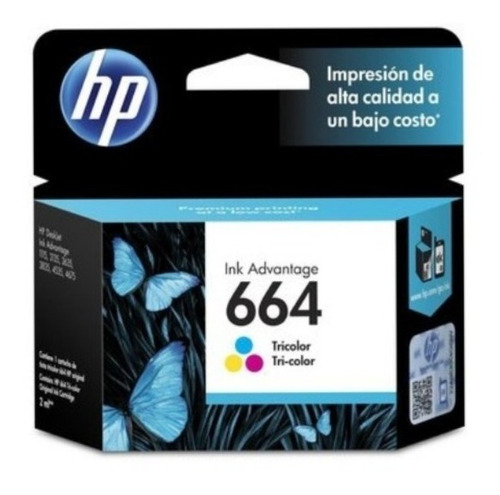 Imagen 1 de 5 de Cartucho Hp 664 Color Ink Advantage 1115 2134 2135 2675 3635