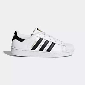 Tênis adidas Superstar Original- Couro - Preto E Branco Nº43