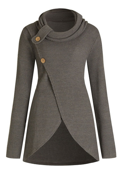 Suéter Mujer Jerseys Poliéster L-5xl Manga Larga Moda 2018
