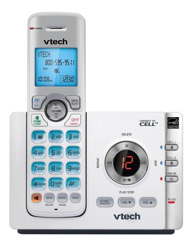 Imagen 1 de 3 de Teléfono inalámbrico VTech DS6722-3 blanco y plateado