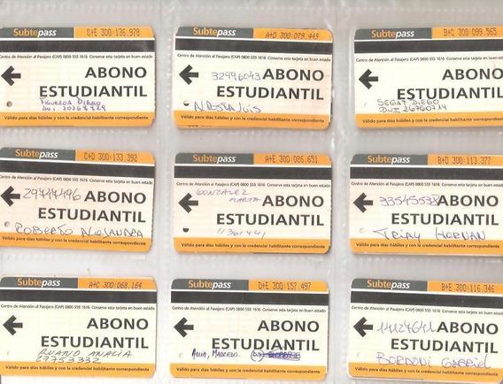 Subtepass Tarjeta Abono Estudiantil - 1 Modelo A Elección