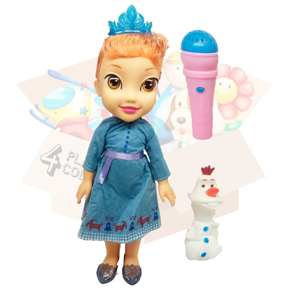 Boneca Musical 36cm Anna Com Microfone Cante Junto - Frozen