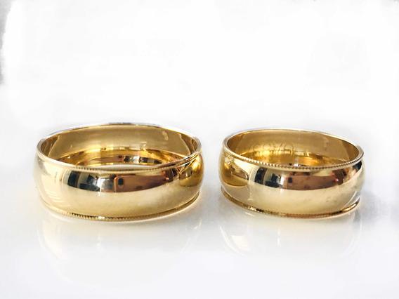 Anillos De Matrimonio Me Argollas Par Oro 10k Alianzas