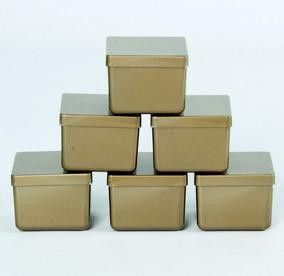 30 Caixa Caixinha Dourada 6x6 Acrílico Lembrancinha