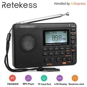 Rádio Retekess V115 Receptor De Rádio Am Fm