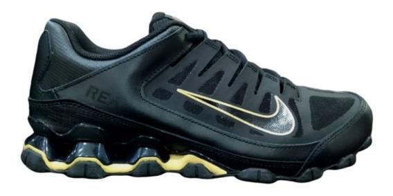 Tenis Nike Reax 8 Tr Mesh Preto/dourado Confortável Passeio
