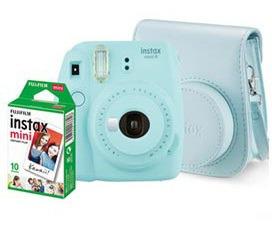 Kit Câmera Fujifilm Instax Mini 9 Azul Aqua - 705061912