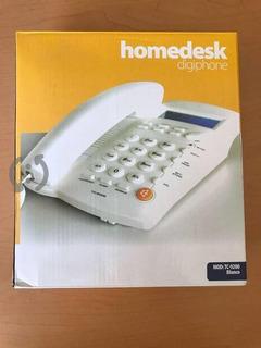 Telefono De Casa Homedesk Blanco Nuevo.