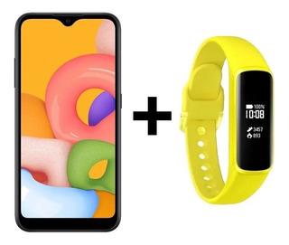 Samsung Galaxy A01 32gb + Smartwhatch Fit-e Amarelo (brinde)
