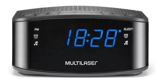 Rádio Relógio Digital Despertador 3w Rms Multilaser Sp288