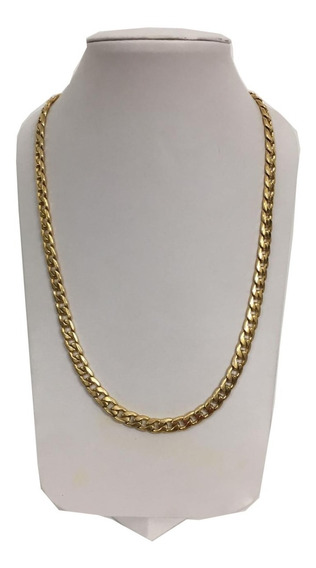 Collar De Acero Inoxidable Color Oro Groumet Envio Gratis