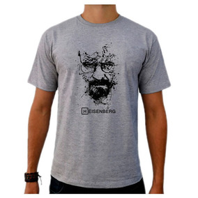 Camiseta Cinza Breaking Bad Heisenberg White Série Tv 01