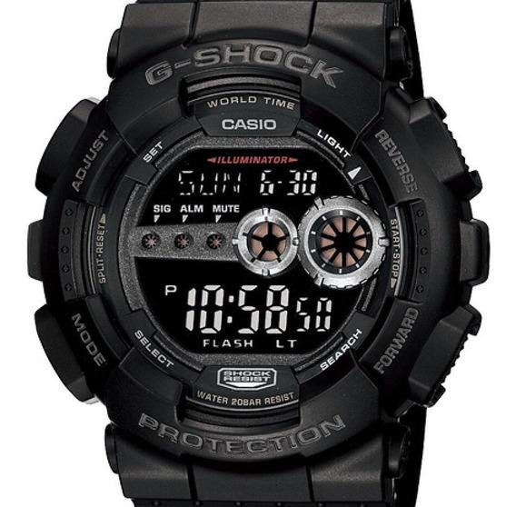 Relógio Casio G-shock Masculino Preto - Gd-100-1bdr