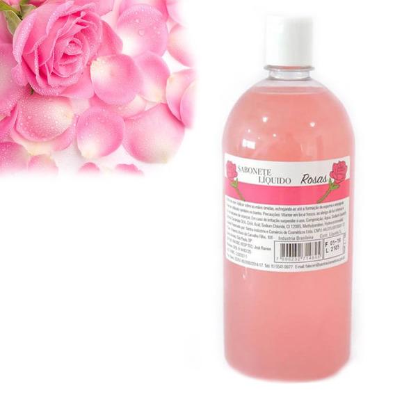 Sabonete Essencias Especiais Rosas Para Banho Diario Liquido