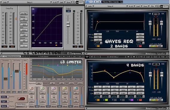 Compresor C1+ Waves Bands+ L3 + Sony Reverb Marter- Equalize