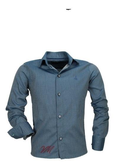 Camisa Infantil Alfa 199 M Longa Magnetad Algodão Luxo 7 Cor