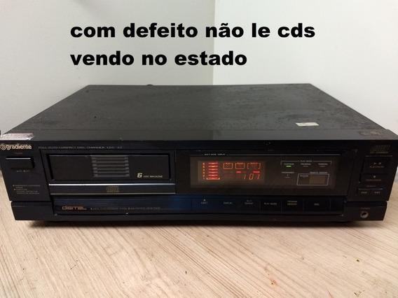 Cd Player Gradiente Cdc-3.0 Disqueteira 6 Cds Não Le Cds