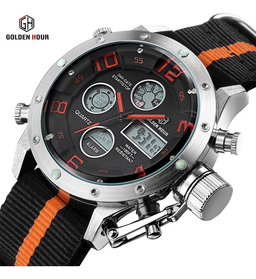 Relógios Goldenhour - Analógico/digital Esportivo/militar