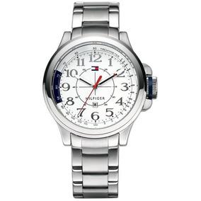 Relógio Luxo Tommy Hilfiger Th1790845 Orig Chron Anal Silver