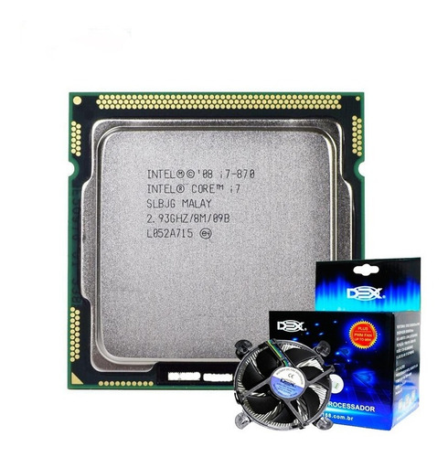 Processador I7 870 Original 2.93ghz Lga 1156 + Cooler