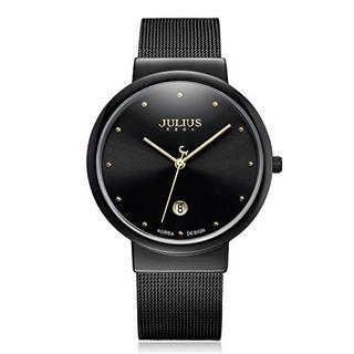 Julius Ja-426me Reloj De Pulsera Elegante De Acero Inoxidabl