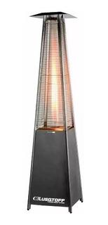 Estufa Gas Exterior Calefactor Pirámide Acero Inoxidable Lus