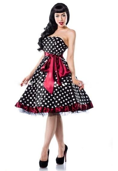 Vestido Bolinhas Pinup Retrô Vintage Anos 60 Com Tule Luxo