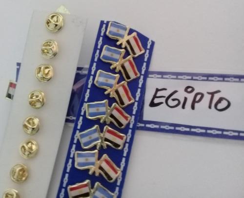 Pins Bandera Argentina Con Egipto De 2 Cms