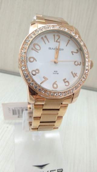 Relógio Feminino Ouro Rose Backer 3131113f