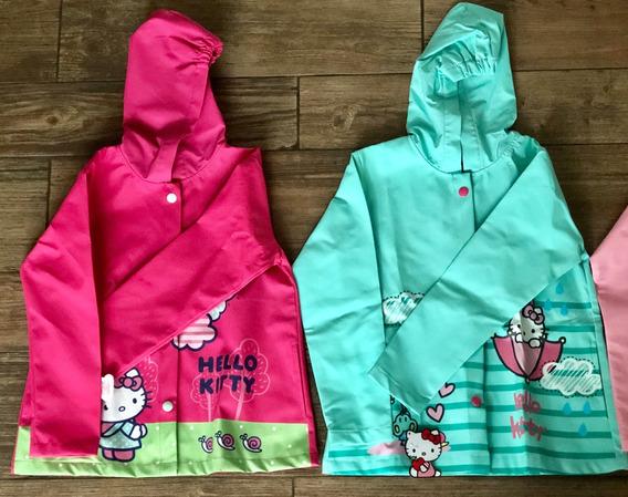 Impermeable Para Niña Hello Kitty Original Talla Chica 4-6