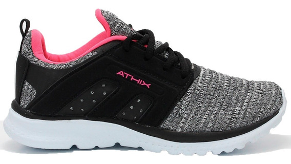 Athix Zapatillas Running Mujer Parkour Negro - Gris