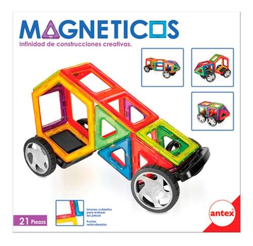 Bloques Magneticos X21 Pzs Con Ruedas - Industria Nacional