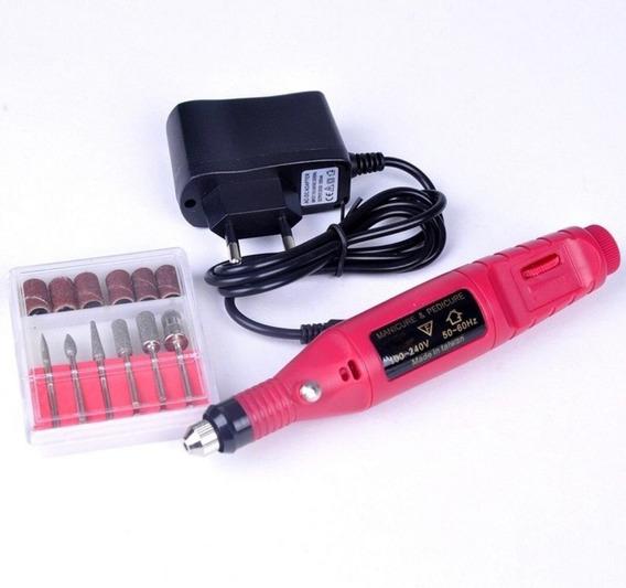 Kit 10 Lixa Elétrica Para Unha Haiz Gel Acrigel Mini Lixa