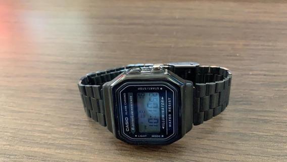 Relógio Unissex Digital Casio Vintage - Preto