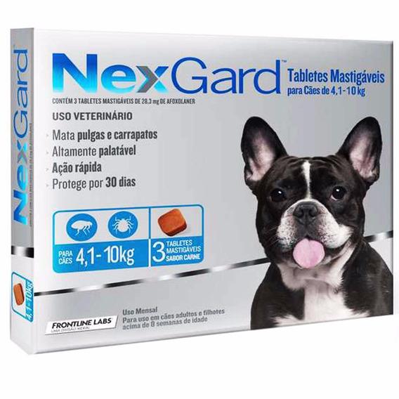 Nexgard 4 A 10kg - Prevenção Contra Pulgas E Carrapatos