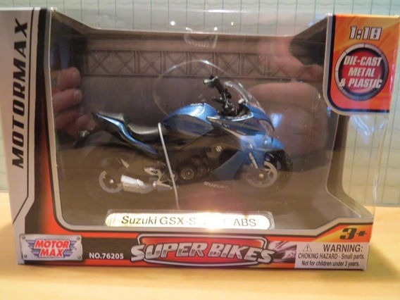 Miniatura De Moto Suzuki Gsx S1000f C/abs -1/18 - Nova