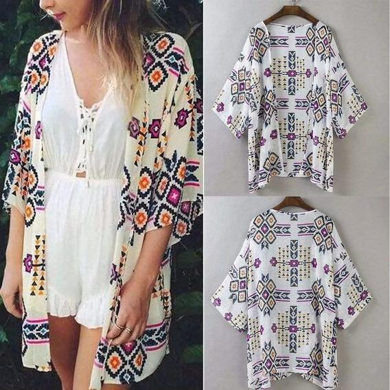Cardigan Fashion Kimono Verano Playa Casual Disponible